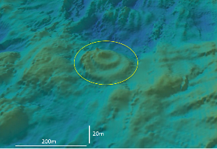 3D bathymetry of the hydrothermally active TAG mound