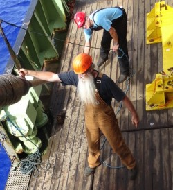 Our chief coring technician, Richie Phipps, is a wizard at gravity coring